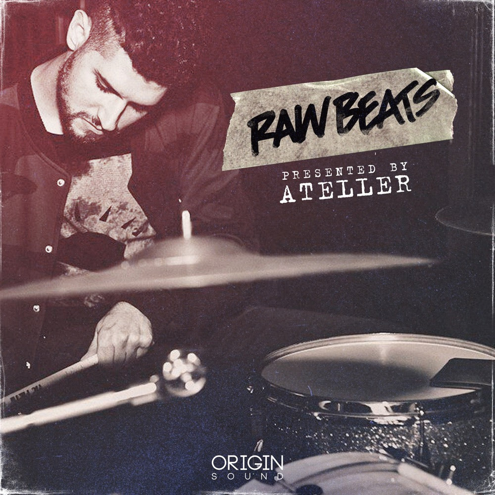 Raw Beats - Presented By Ateller Sample Pack, Origin Sound, Origin Sound - Origin Sound samples royalty free fundamental ambience pack edm electronic ableton live fl studio logic pro piano drums keys bass chords midi melodies IDM organic downtempo tisoki presets elysian utopia free samples