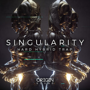 Singularity - Hard Hybrid Trap Sample Pack, Origin Sound, Origin Sound - Origin Sound samples royalty free fundamental ambience pack edm electronic ableton live fl studio logic pro piano drums keys bass chords midi melodies IDM organic downtempo tisoki presets elysian utopia free samples