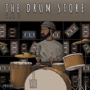 The Drum Store - Vol 2 Sample Pack, Origin Sound, Origin Sound - Origin Sound samples royalty free fundamental ambience pack edm electronic ableton live fl studio logic pro piano drums keys bass chords midi melodies IDM organic downtempo tisoki presets elysian utopia free samples
