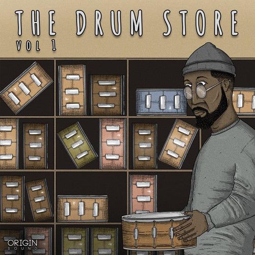 The Drum Store - Vol 1 Sample Pack, Origin Sound, Origin Sound - Origin Sound samples royalty free fundamental ambience pack edm electronic ableton live fl studio logic pro piano drums keys bass chords midi melodies IDM organic downtempo tisoki presets elysian utopia free samples