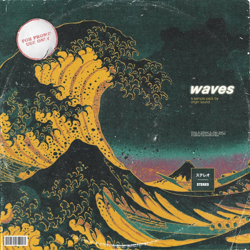 Waves - Trap & Hip Hop Sample Pack, Origin Sound, Origin Sound - Origin Sound samples royalty free fundamental ambience pack edm electronic ableton live fl studio logic pro piano drums keys bass chords midi melodies IDM organic downtempo tisoki presets elysian utopia free samples
