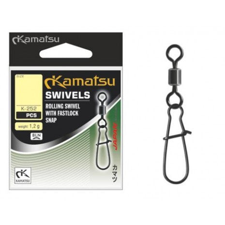 Kamatsu Rolling Swivels with Fastlock snap