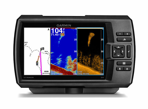 "Garmin STRIKER 7cv 7"" Sonar WW c/w GT20-TM (CHIRP 77/200kHz/DownVü) TM Txd - VIVADO"