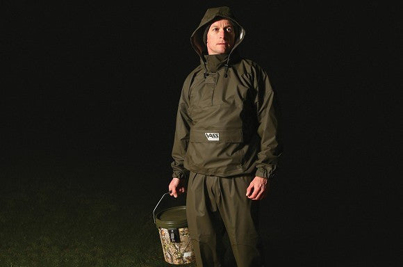 Team Vass 175 'Khaki Edition' Lightweight Waterproof & Breathable Fishing Smock