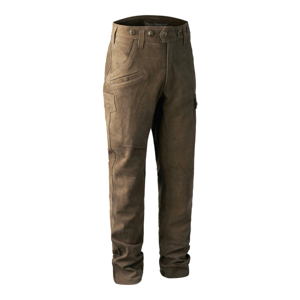 Deerhunter Strasbourg Leather Trousers - Brown