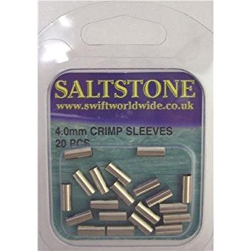 Salstone crimp sleeves 4mm 20pc