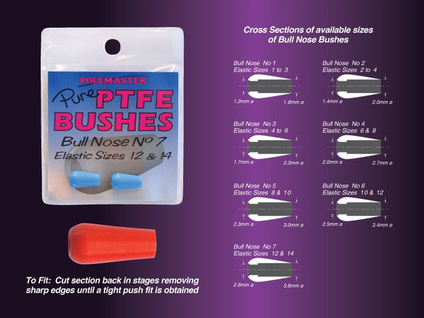 Drennan Pure PTFE Bushes – Bull Nose