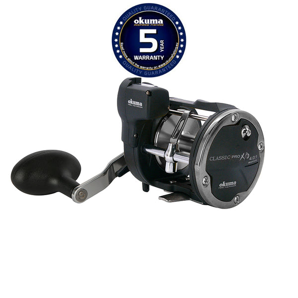 Okuma Classic Linecounter XPD multiplier reels