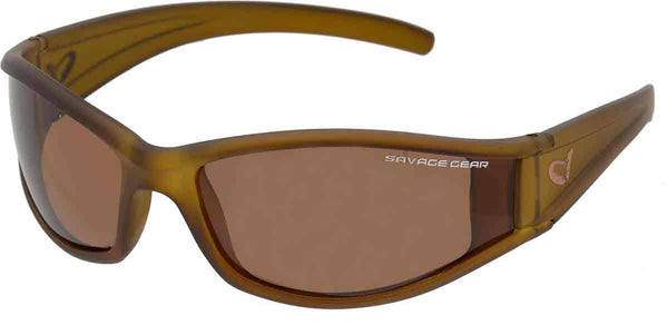 Savage Gear Shades Floating Polarized Sunglasses - Amber (sun and clouds)