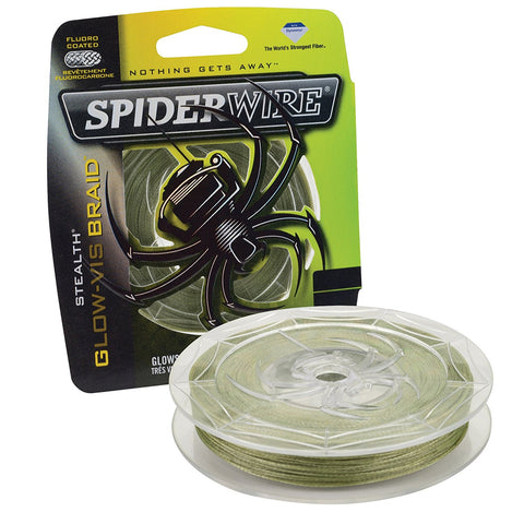 SpiderWire Stealth Glow-Vis Braid line 125Y Low-Vis Green