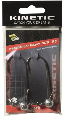 KINETIC HEADBANGER HEAVY 2-PACK JIGHOOKS #8/0