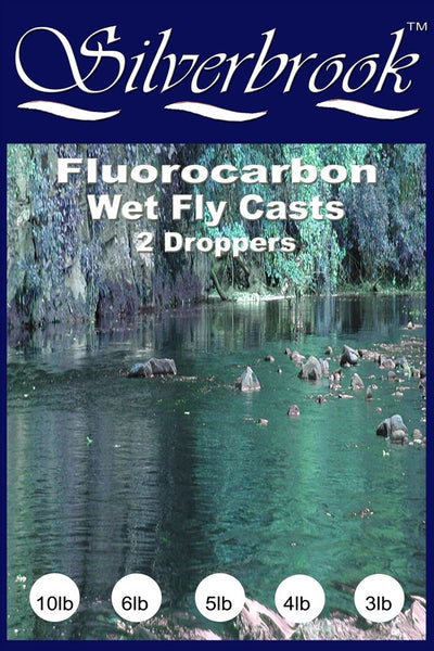 Silverbrook 12ft Fluorocarbon Tapered Wet Fly Cast