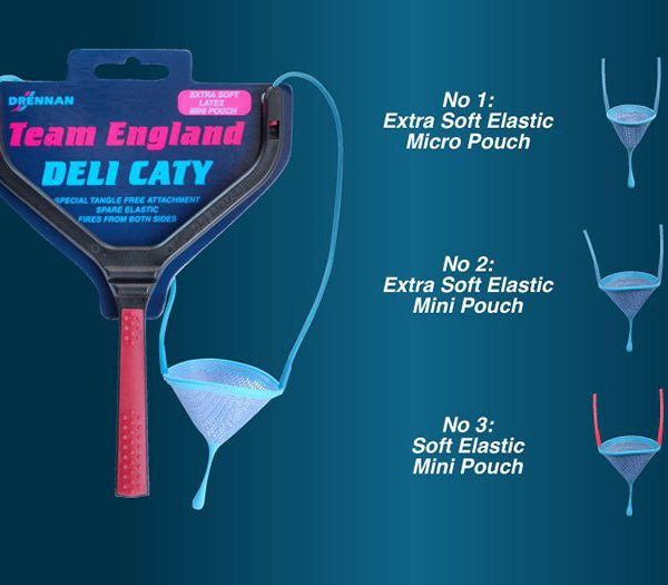 Drennan Team England Deli Caty catapults - Extra Soft Latex with Mini pouch