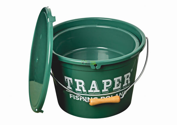 Traper 13L GREEN Bucket WITH BOWL AND COVER