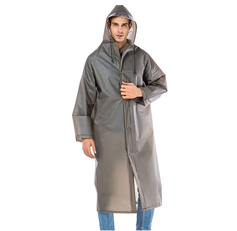 Long EVA Thick Waterproof Raincoat