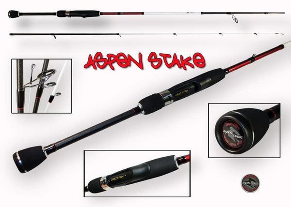 Crazy Fish Aspen Stake Spinning Rod
