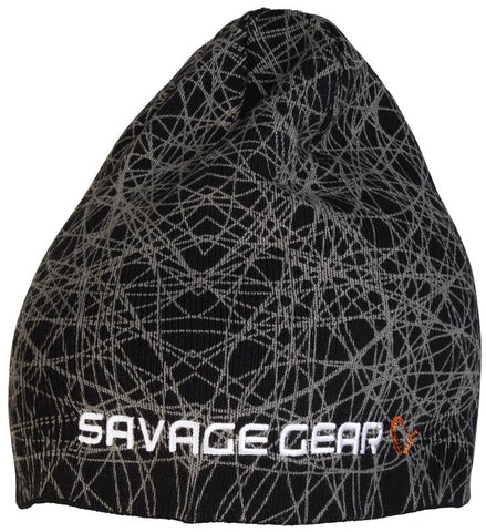 Savage Gear Knit Geometry Beanie Black