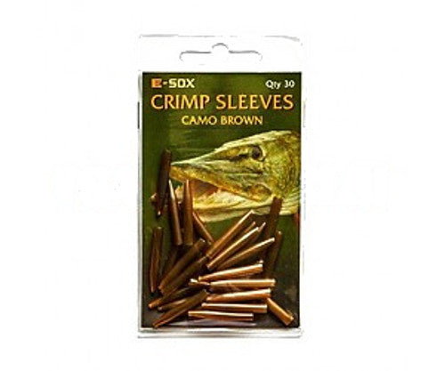 Drennan crimp sleeves camo brown