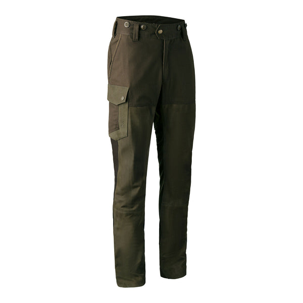 Deerhunter Marseille Leather Mix Trousers - Tarmac Green