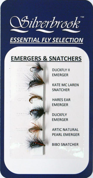 Silverbrook Essential Fly Selection EMERGERS & SNATCHERS