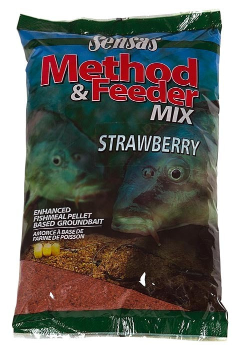 Sensas Method & Feeder Mix 1kg - Strawberry