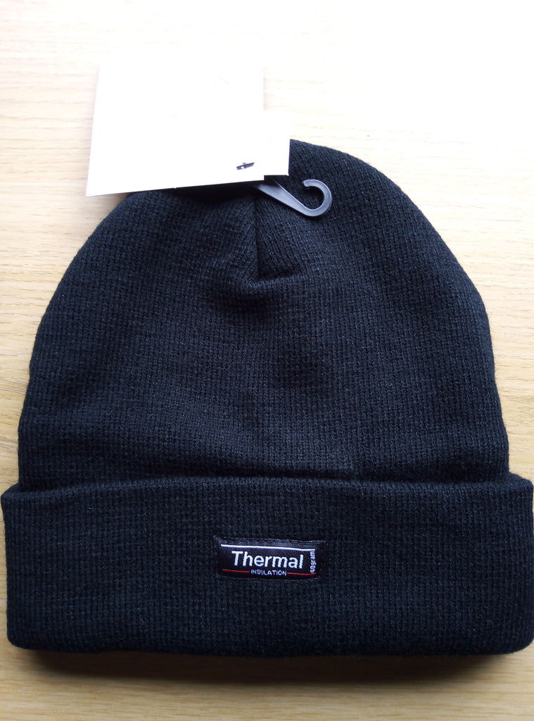 Fleece Thinsulate Knitted Hat Black - VIVADO
