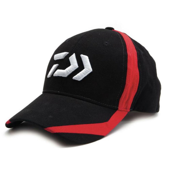 Daiwa D-Vector Logo Fishing Cap - Black / Red - VIVADO