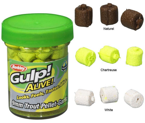 Berkley Gulp! Alive® 9mm Trout Pellets Garlic