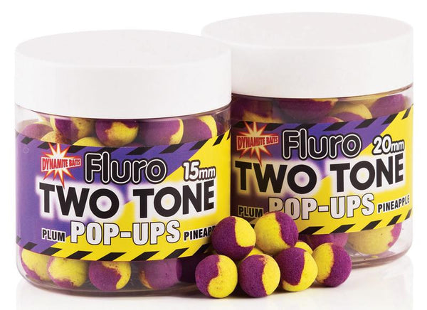 Dynamite Baits Fluro two tone pop-ups 15mm - Plum & Pineapple - VIVADO