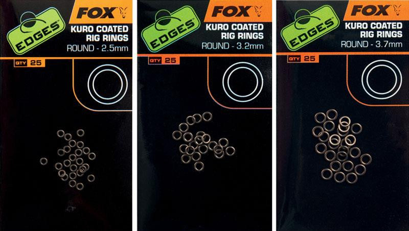 FOX Kuro coated rig rings 3.2mm