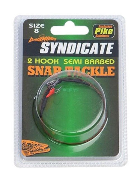 Dinsmores Syndicate Semi Barbed 2 Hook Snap Tackle sz4