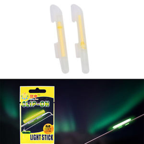 Clip On Light Sticks For Rod Tip 2.0-2.6mm  2pcs/pack