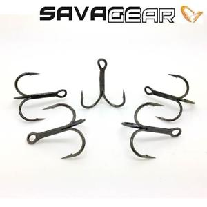 Savage Gear Y-Treble Hooks - Size 4 black nickel