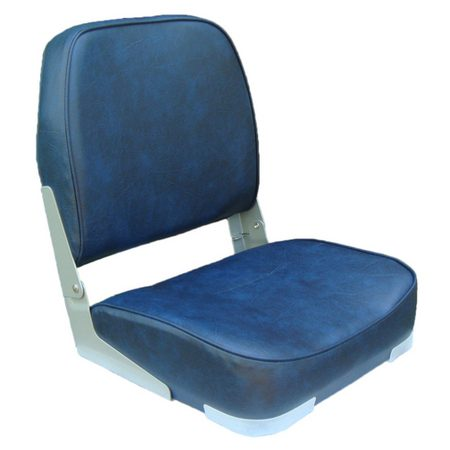 Navy Classic Low Back Folding Seat S/S 316 Fittings