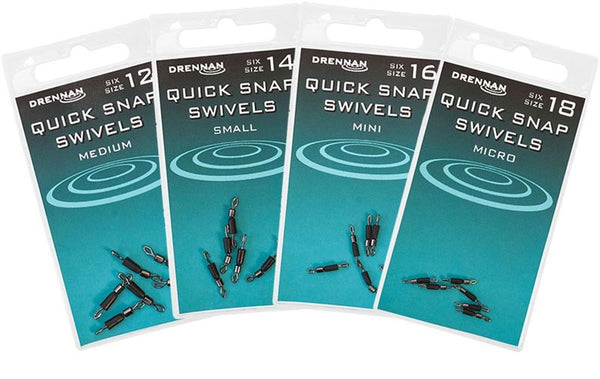 Drennan Quick Snap Swivels - Mini 16