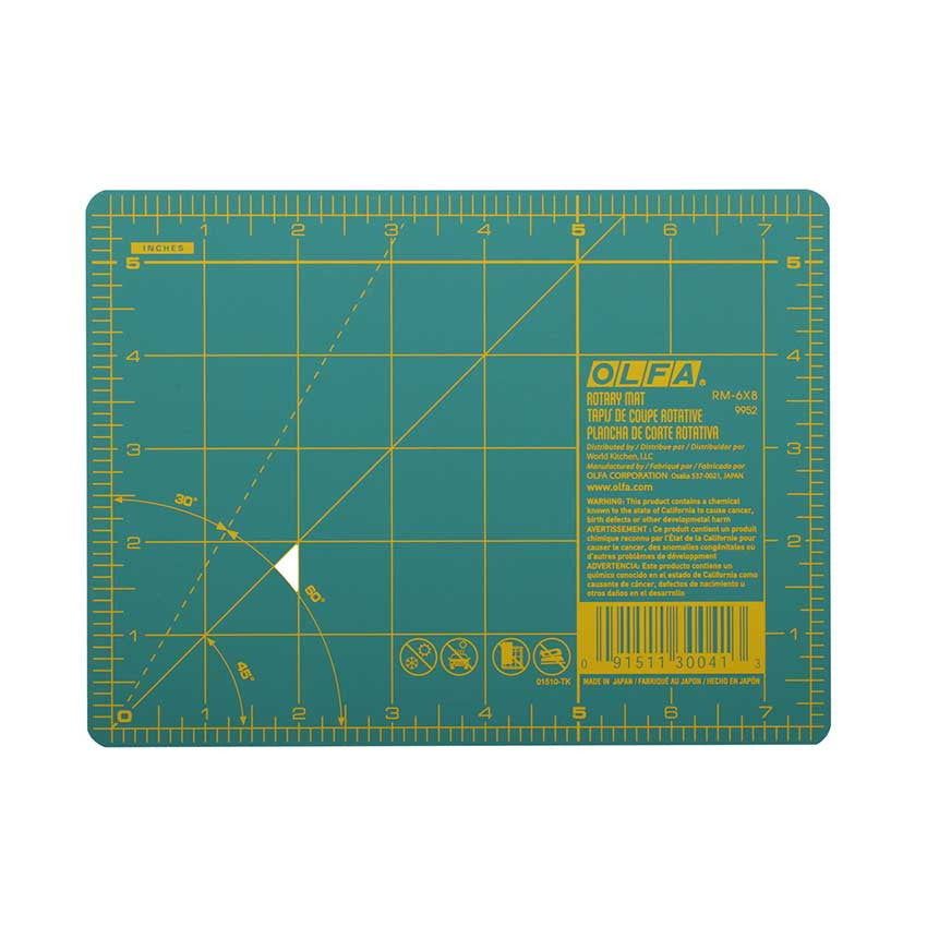 "OLFA Double-Sided Rotary Mat 6""x8"""