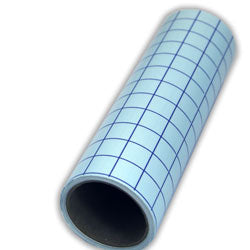 "Clear Medium Tack Transfer Tape with Blue Grid Release Liner 12"" x 5 yd roll"