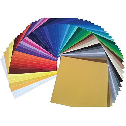 "Oracal® 651 Vinyl Jumbo Pack - 63 Sheets - One of Every Color! 12"" x 12"""