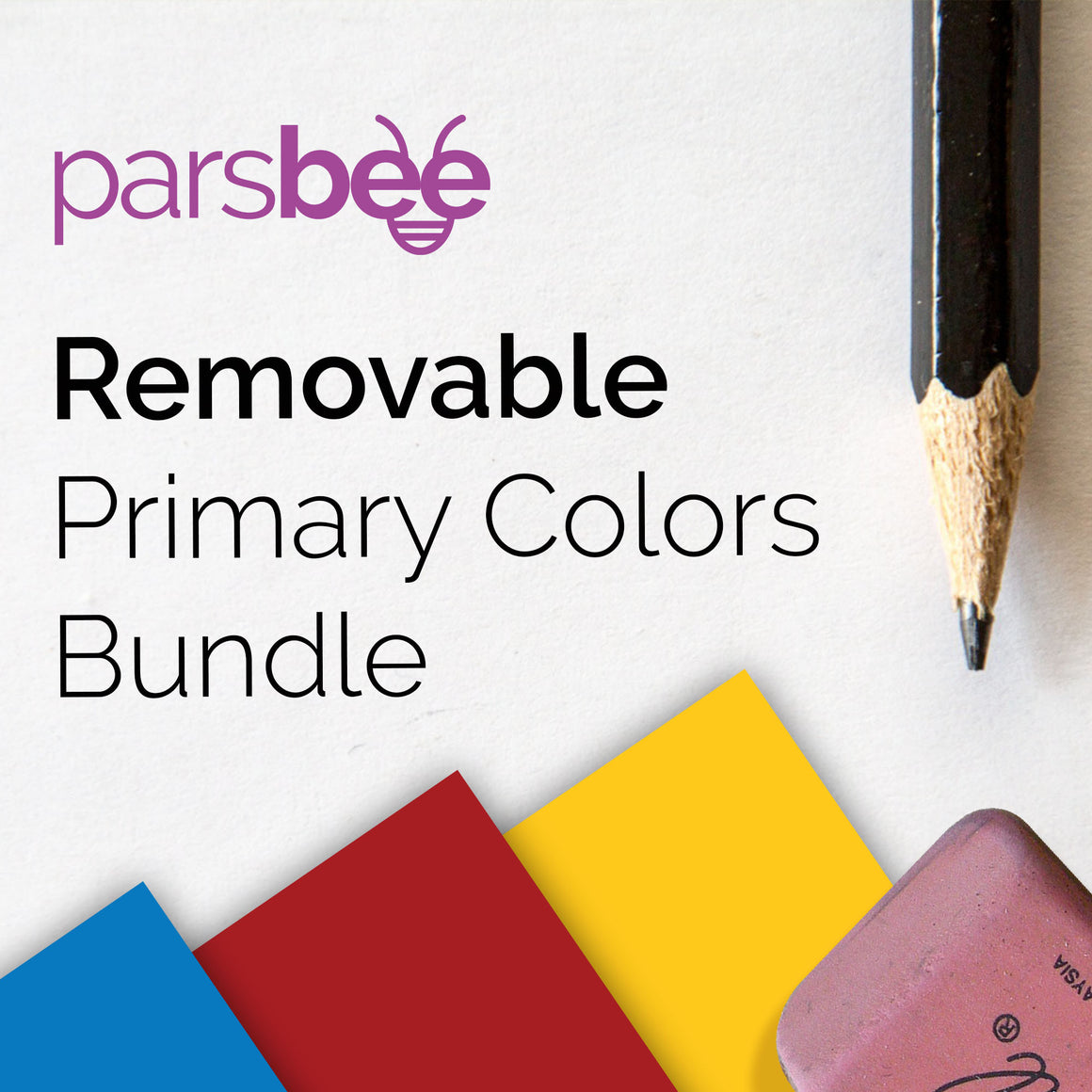 Parsbee Removable Matte Primary Colors Bundle
