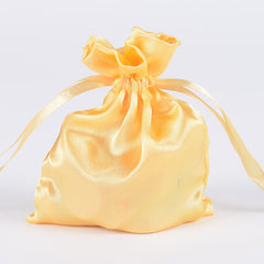 Satin Bags Gold ( 3x4 Inch - 10 Bags )