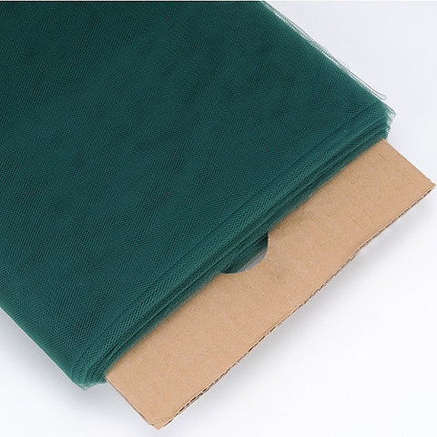 Hunter Green 54 Inch Premium Tulle Fabric Bolt ( W: 54 inch | L: 40 Yards ) -