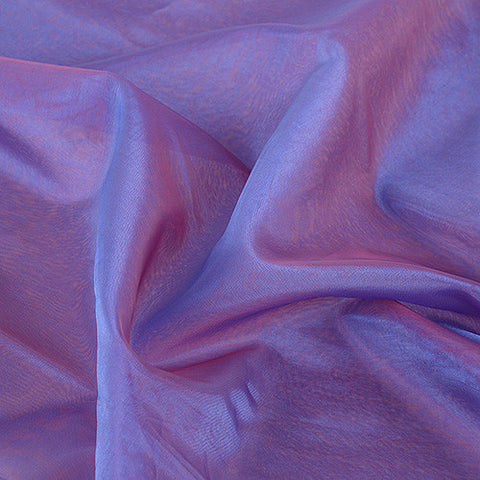Two Tone Organza Overlays Red Blue ( W: 28 inch | L: 108 Inches ) -