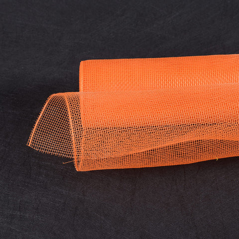 Floral Mesh Wrap Solid Color Orange ( 10 Inch x 10 Yards ) -