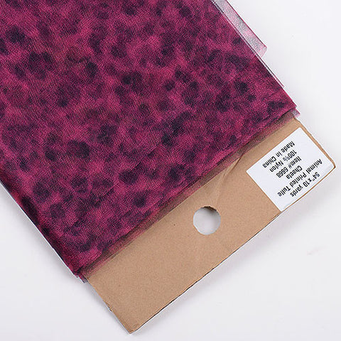 Animal Printed Tulle Bolt Cheetah Fuchsia ( W: 54 inch | L: 10 Yards ) - Ribbons Cheap