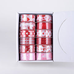 Valentine Ribbon Assorted Color ( 1-1/2 Inch - 12 Rolls )