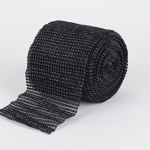 Bling Diamond Rolls Black ( 4 Inch x 10 Yards ) -