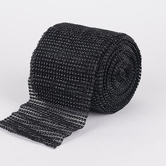 Bling Diamond Rolls Black ( 4 Inch x 10 Yards )