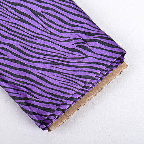 Animal Printed Satin Fabrics Purple ( W: 58 inch | L: 10 Yards )
