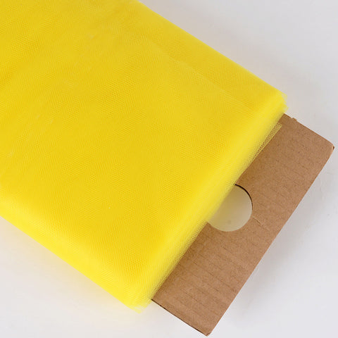 Yellow 54 Inch Premium Tulle Fabric Bolt ( W: 54 inch | L: 40 Yards ) -