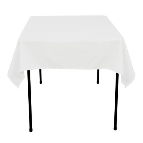 White  52 x 52 Square Tablecloths  ( 52 Inch x 52 Inch )